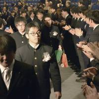 Students attend final graduation for schools closed by Fukushima nuclear disaster