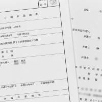 Copies of documents concerning a lawsuit brought by Moritomo Gakuen shows the name of Defense Minister Tomomi Inada. The papers show Inada represented the school operator as a lawyer. | KYODO