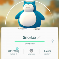 In 'Pokemon Go,' Snorlax can learn an attack move called 'earthquake.'