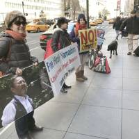 Supporters stage New York rally demanding Japan release Okinawa anti-base activist