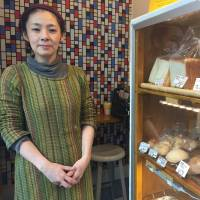 Mari Matsunaga, a Crohn's disease patient who runs a bakery in Tokyo's Shibuya Ward, says working right next to home suits her needs. | TOMOKO OTAKE