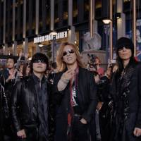 Start spreading the news: The current lineup of X Japan poses in front of Madison Square Garden in New York. The band's journey there is detailed in the documentary 'We Are X.' | © 2016 PASSION PICTURES, LTD.