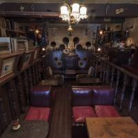 Speaking volumes: The interior of Asagaya's Violon, one of a handful of meikyoku kissaten left in Tokyo, harkens back to an era when musical recordings were prohibitively expensive and people paid to listen in special cafes. | JAMES HADFIELD