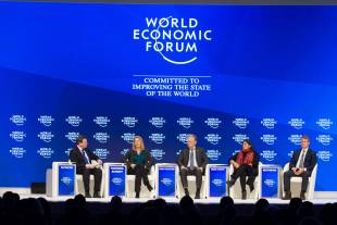 Political and business executives discuss global issues at the Annual Meeting 2017 of the World Economic Forum in Davos, on Jan. 20.
