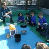 Jon Walsh teaches about recycling household gray water. | COURTESY OF JON WALSH