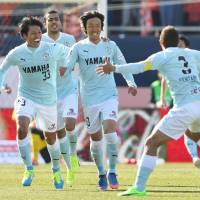 Newcomer Nakamura notches first goal in Jubilo's first victory of season