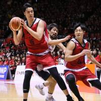 Rebounding skills a vital part of Joji Takeuchi's game