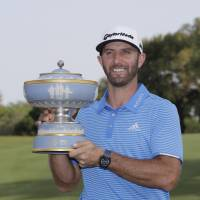 Johnson holds off Tanihara, Rahm for Match Play crown