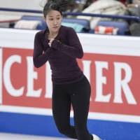 Mai Mihara, who won last month's Four Continents Championships in South Korea, will lead Japan in women's singles at the world championships. KYODO