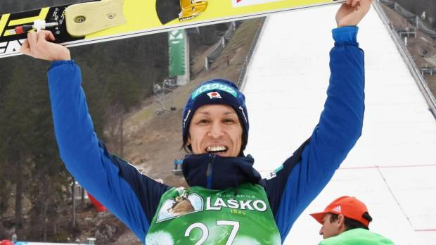 Kasai rewrites record for oldest ski jump World Cup medal