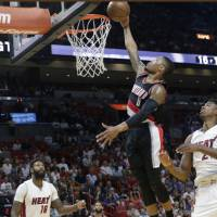 Lillard on fire as Trail Blazers scorch Heat