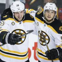 Flames falter against Bruins as 10-game winning streak ends