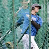 Shohei Otani labeled his offseason a success despite the fallout from an ankle injury he suffered late last year. | KYODO