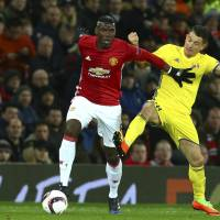 Manchester United's Paul Pogba has underperformed this season, scoring four goals in 28 Premier League appearances.   AP