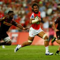 The Sunwolves' Liaki Moli carries the ball against the Stormers during Saturday's Super Rugby match in Singapore. The Stormers won 44-31. | REUTERS
