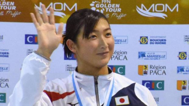 Ikee triumphs in 50-meter freestyle race in France
