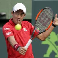 Nishikori tops Anderson, makes 3rd round in Miami