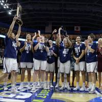 UConn women trounce Oregon for 111th consecutive victory, book spot in 10th straight Final Four