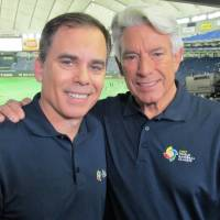 Rich Waltz (left) and Buck Martinez called play-by-play of World Baseball Classic games for the MLB Network at Tokyo Dome earlier this month. | WAYNE GRACZYK