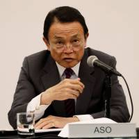 Japan's Aso pushes back against U.S. pressure for bilateral trade deal