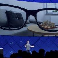 Facebook CEO Mark Zuckerberg speaks at his company's annual F8 developer conference Tuesday in San Jose, California. | AP