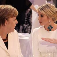 Ivanka Trump calls audience groans 'politics' as she defends dad at Berlin women-in-business confab
