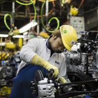 Strong demand for equipment in the manufacturing sector pushes up core private-sector machinery orders by 1.5 percent in February from the previous month. | BLOOMBERG