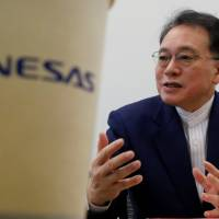 Renesas Electronics Corp. Chief Executive Officer Bunsei Kure is interviewed at the company's headquarters in Tokyo on Monday. | REUTERS