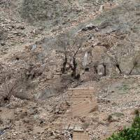 Burned trees are seen Sunday at the site of the MOAB, or 'mother of all bombs,' which struck the Achin district of the eastern province of Nangarhar, Afghanistan. | REUTERS