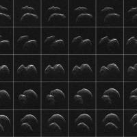 1.3-km-wide asteroid smokes by about four times distance from the moon