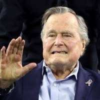 Ex-President George H.W. Bush hospitalized in Houston with pneumonia