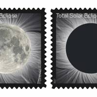 Touching new U.S. stamp changes view of eclipse