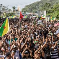 Protesters converge on space center as French Guiana's financial crisis worsens