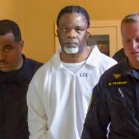 Ledell Lee appears in Pulaski County Circuit Court on Tuesday for a hearing in which lawyers argued to stop his execution. | BENJAMIN KRAIN / THE ARKANSAS DEMOCRAT-GAZETTE / VIA AP