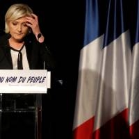 Marine Le Pen, French National Front (FN) political party leader and candidate for French 2017 presidential election, attends a political rally in Monswiller, near Strasbourg, France, April 5. | REUTERS