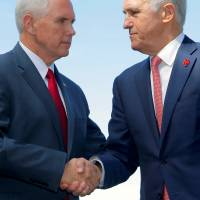 Pence reaffirms U.S.-Australia alliance following spat over refugee resettlement deal