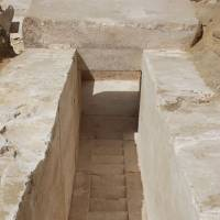 Remains of ancient pyramid discovered south of Cairo