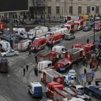 Emergency crews rushed to the Sennaya Ploshchad metro station in St. Petersburg, Russia, following a deadly explosion. | REUTERS