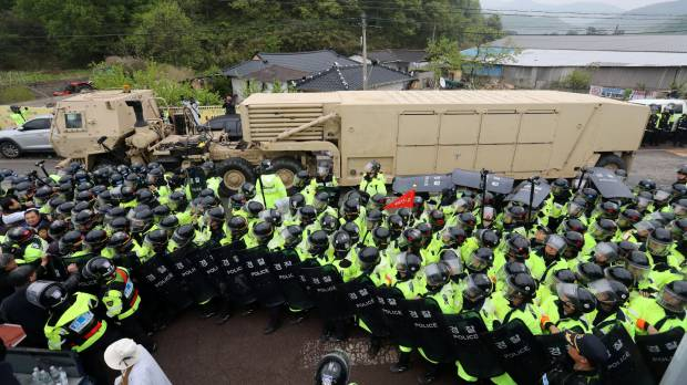U.S. sends THAAD system to South Korean site in move blasted by presidential front-runner Moon