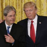 Trump meets Italian leader, talks trade and security