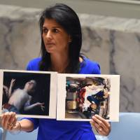 U.S. vows action over Assad gas attack if U.N. stalls, scorns Russia claim of rebel chemical stash