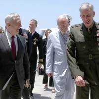 U.S. Defense Secretary Mattis makes visit to strategic Djibouti