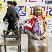 Japan presses South Korea to block statue plan honoring forced laborers