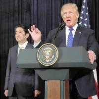 Trump's view on Japan eases back to conventional policy in his first 100 days