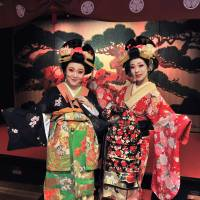 'Oedo Enbugeki'  performers, clad in traditional kimono, are popular with guests, many of whom are from overseas. | YOSHIAKI MIURA