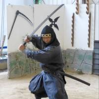 A ninja actor performs at the Ninja Museum of Igaryu in Iga, Mie Prefecture, in 2014. | KYODO