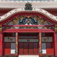 The Seiden, the main structure of Shuri Castle, is decorated in symbolism derived from China. | STEPHEN MANSFIELD