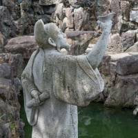 A statue of the Chinese sage Confucius at Fukushu-en in Naha.   STEPHEN MANSFIELD