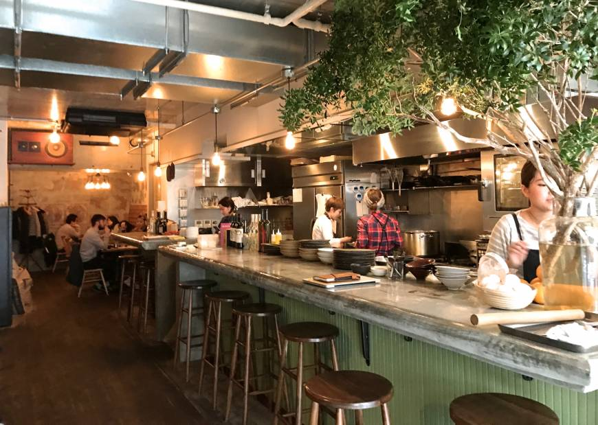 Multifaceted: Path, near Yoyogi Park, serves everything from breakfast and brunch through dinner and more. | ROBBIE SWINNERTON