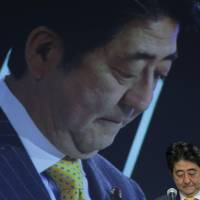 Sad: Could the policies of Prime Minister Shinzo Abe have something to do with why so many Japanese report feeling so unhappy? | KIYOSHI OTA / BLOOMBERG